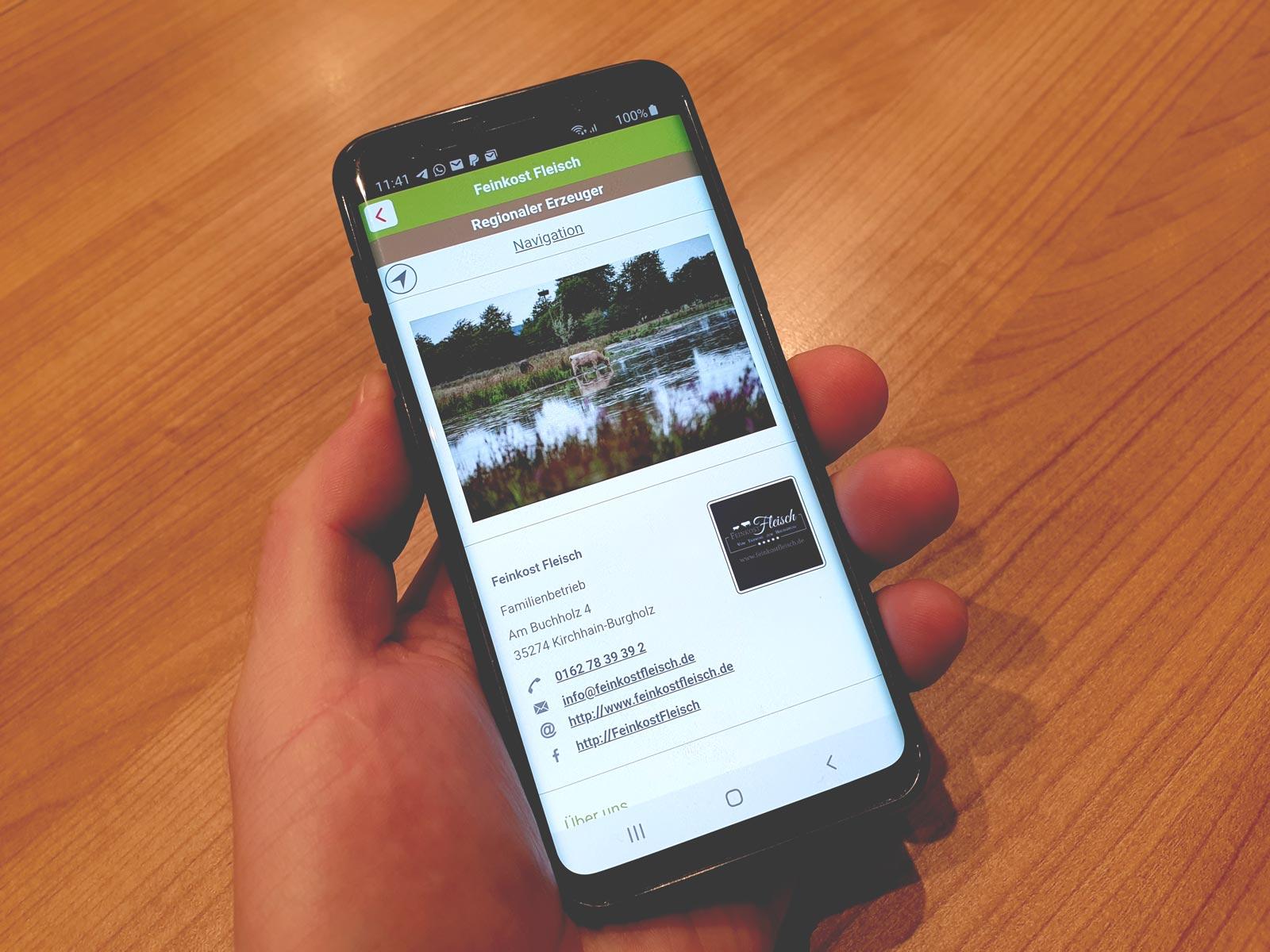 unser feinkost rindfleisch regio app